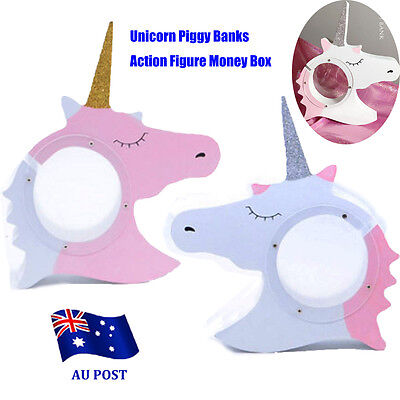 Unicorn Piggy Banks Action Figure Money Box Collection Display Kids Toys Gift BO