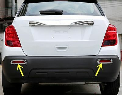 2PCS Silver ABS Chrome Rear Fog Lamp Cover Trim for Chevrolet TRAX 2014 2015