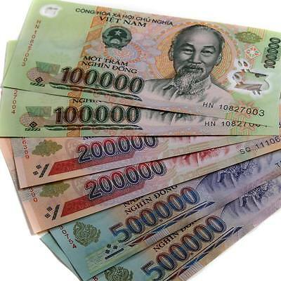 15 MILLION Vietnam Dong Mixture 500,000 / 200,000 /100,000 UNCIRCULATED Currency