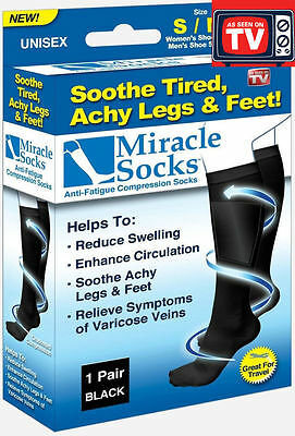 MIRACLE SOCKS Compression Socks for Aching Feet Varicose Veins Flight and Travel