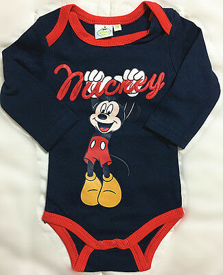 New Toddler Baby Romper One-Pieces Playsuit Outfits Clothing Disney Mickey Blue