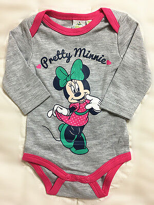 New Toddler Baby Romper One-Pieces Playsuit Outfits Clothing Disney Minnie Grey