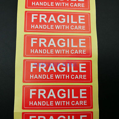 fragile handle with care self-adhesive shipping label stickers warning sticker