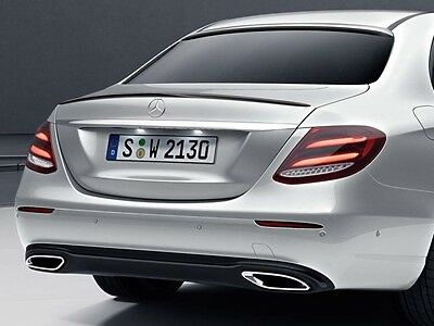 Painted Gloss Black MERCEDES E-CLASS Saloon W213 2016-2017 BOOT LIP REAR SPOILER