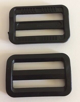 38mm Curved Tri-glide Slider Adjustable Webbing Lock Bar(2), Use Next To Buckle.