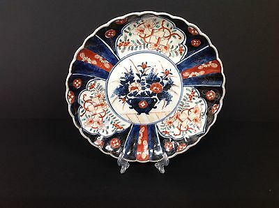 VINTAGE ANTIQUE JAPANESE IMARI PLATE 19th century original