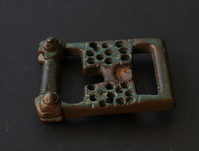 Ancient Roman Bronze Belt Buckle 1st Century AD