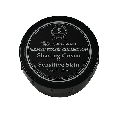 Taylor of Old Bond Street Jermyn St Shaving Cream for Sensitive Skin Bowl150g