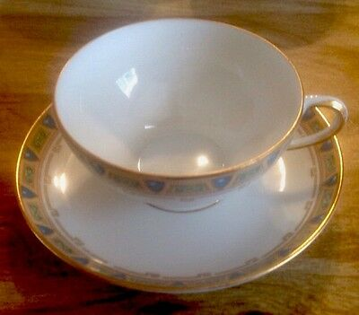 9 Cups & Saucers By Wm Guerin & Co Limoges France GUE2 Disc