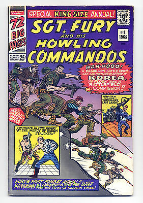 Sgt. Fury and His Howling Commandos Annual #1 VG+ 1965 ~ Marvel Comic Book