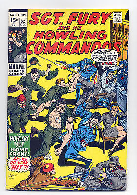 Sgt. Fury and His Howling Commandos #82 VG+ 1970 ~ Marvel Comic Book