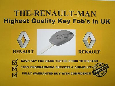 2 button key fob suitable for Renault clio lll Kangoo ll Master lll Modus new.