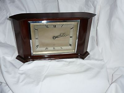 French Polished Mahogany Art Deco Style Mantel Clock - Elliott , London