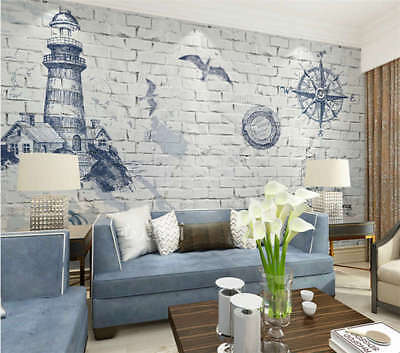 Good Lighthouse 3D Full Wall Mural Photo Wallpaper Printing Home Kids Decoration