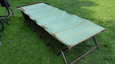 Second World war folding Campaign bed