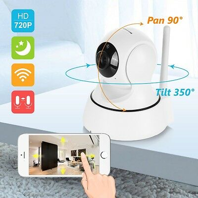 Wireless WiFi IP Camera Night Vision Motion Detection Audio Baby Monitor Pan/Til