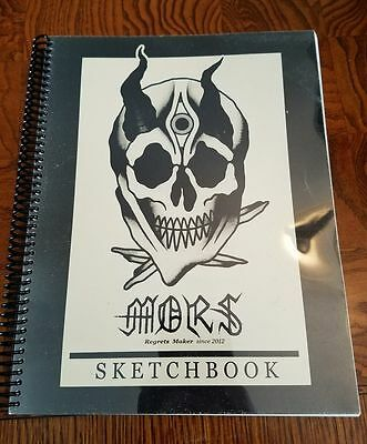 Mors tattoo sketchbook sketch flash book traditional old school CLEAN