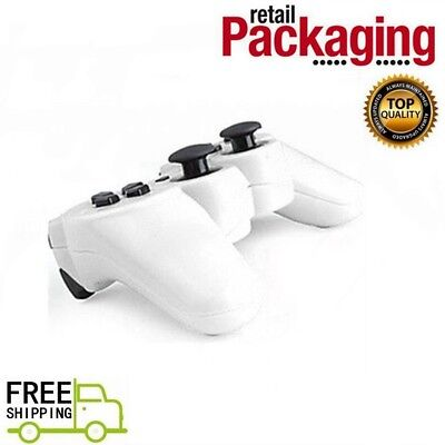 New White Wireless Twin Shock Game Controller 2.4GHz RF For PS2 Free Shipping
