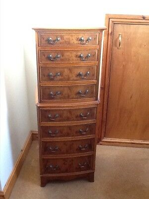 Antique Georgian Style Yew Wood Chest On Chest - Tallboy