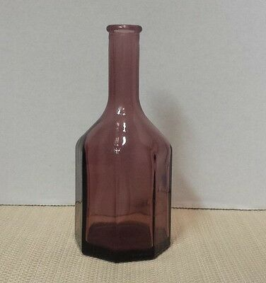 Vintage Amethyst Wheaton N.j. Octagon  Bottle 5 1/2""