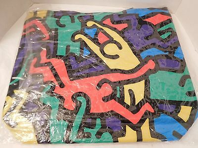 Keith Haring 'Doubles' Shopping Tote Bag 18 X 16 PVC by Shaw Creations NEW
