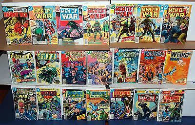 DC Bronze Age WAR Comic 21pc Lot Enemy Ace Men Of War Unknown Soldier Weird War