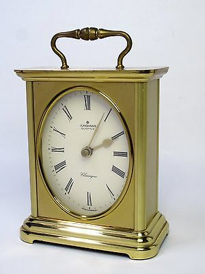 Vintage Junghans Classique Quartz Made In Germany Brass Mantel Clock VG Conditio