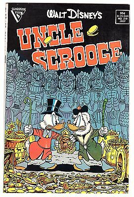 "WALT DISNEY'S UNCLE SCROOGE #219 1st DON ROSA STORY & ART  ""Son of the Sun"" 1987"