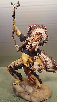 Franklin Mint Cheyenne Indian Chief with Headdress RF Murphy Fine Porcelain 1989