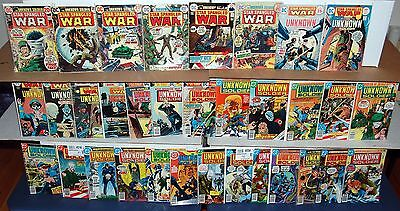 Star Spangled War Stories UNKNOWN SOLDIER DC Bronze Age Comic 33pc Run Lot