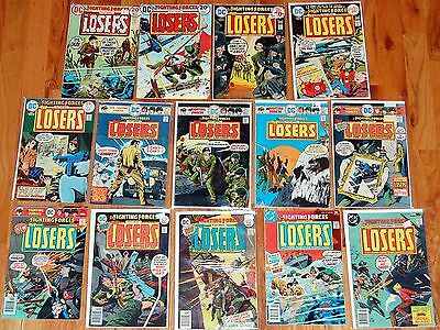 Our Fighting Forces THE LOSERS DC Bronze Age War Army Comic 14pc Run Lot