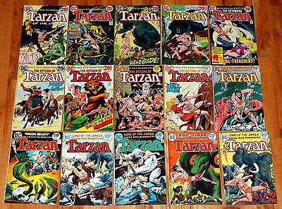 TARZAN #214 215 216 218-229 DC Bronze Age Jungle Comic 15pc Run 20cent Kubert