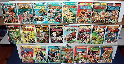 TARZAN #211 224 236 237 239-242 244-258 DC Bronze Age Jungle 23 Comic Lot Kubert