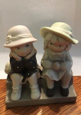 "Kim Anderson 1995 Two Girls Figurine ""WE'RE TWO OF A KIND"" Enesco #175358"