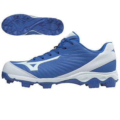 Mizuno Youth 9-Spike Advanced Franchise 9 Low Baseball Cleats, Royal/White - 2.5