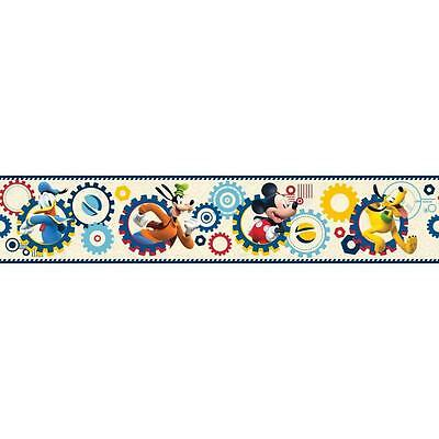 Disney Mickey Mouse Clubhouse on Yellow on Sure Strip Wallpaper Border DS7784BD