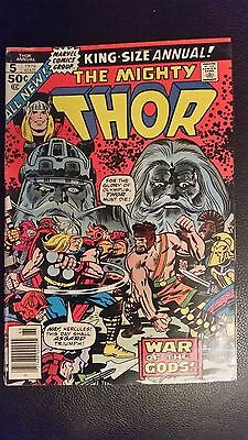 The Mighty Thor King Size Annual # 5 1976 Marvel Fine/very Fine