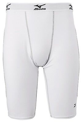 (Small, White/Grey) - Mizuno Youth Padded Sliding Short with Cup G2. Huge Saving