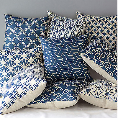 *NEW* Cushion Cover Home Sofa Decor Linen Geometric Flower Hot Vintage AU