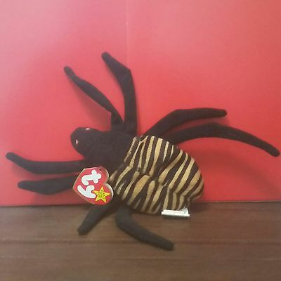 Ty Beanie Babies SPINNER the Spider, (PVC China) with 1996 CANADIAN Tags
