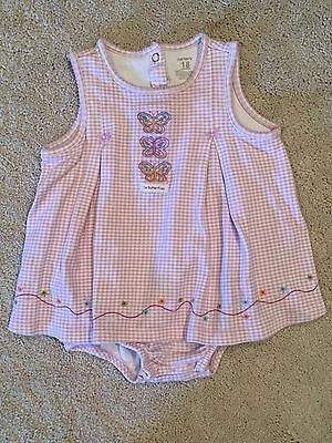 GUC!! Carter's Baby Girls Pink Dress ~ Size 18 Months ~ 100% Cotton ~ Pre-owned