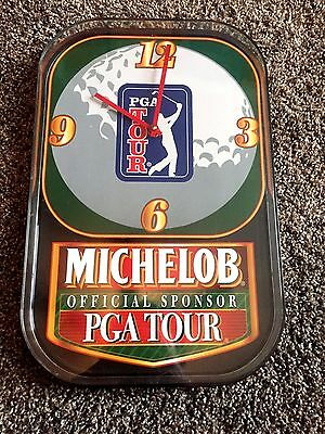 "RARE Vintage Anheuser Busch PGA Tour ""Michelob "" Official Sponsor Clock/Sign"