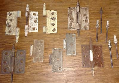 LOT Antique Victorian Hinges Steeples Salvaged Hardware  (D11)