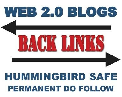 20 x Web 2.0 Blog Permanent Do Follow Google SEO manual submission back links $8