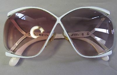 Vintage Christian Dior White Butterfly Sunglasses 2056 70 67 03 Germany 110