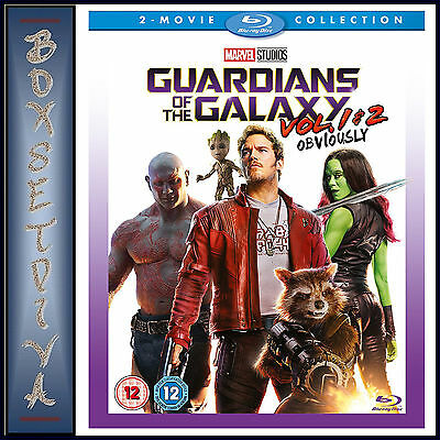Guardians Of The Galaxy 1 & 2  - 2 Movie Collection  **brand New Blu-Ray***