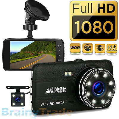 "Dash Cam 2.4"" LCD Car DVR Driving Recorder Camera Full HD 1080P Vehicle Video"