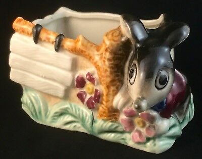 Rare Vintage Retro Ceramic Mouse Pottery Planter Vase Art Deco Mid Century