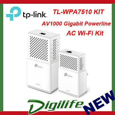 TP-Link TL-WPA7510 KIT AV1000 Gigabit Powerline AC Wi-Fi Kit