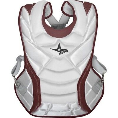 (White/Maroon) - All-Star System 7 Womens Chest Protector 33cm. Delivery is Free